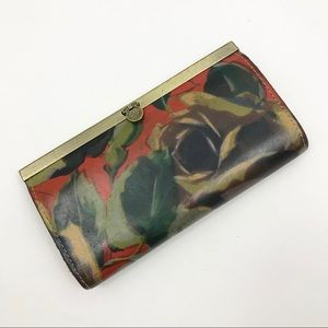 Patricia Nash Leather CAUCHY Wallet Clutch Floral